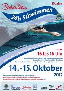 Plakat 24 Stundenschwimmen A3